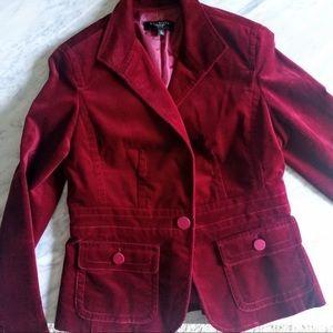 Talbots crushed velvet blazer / Spring Jacket